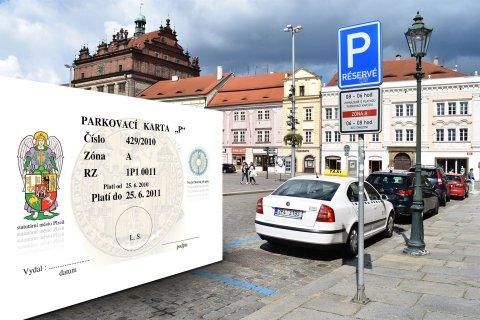 """P"" parking card"